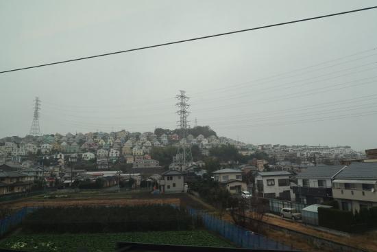 東海道新幹線の車窓から