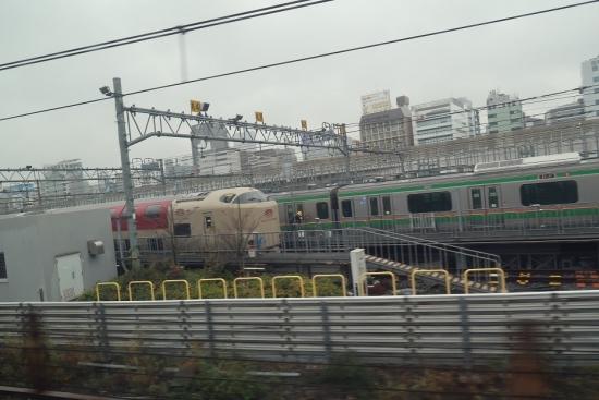東海道新幹線の車窓から 踊り子