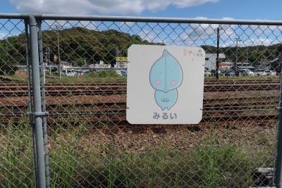 天竜二俣駅 方言みるい(幼い、熟していない)