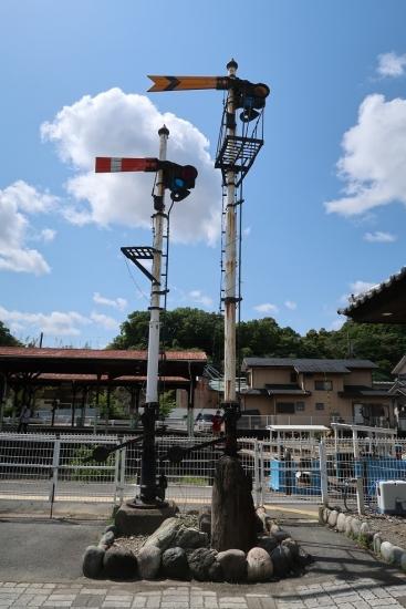 天竜浜名湖鉄道 天竜二俣駅 信号オブジェ