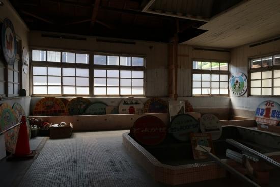 天竜浜名湖鉄道 天竜二俣駅 入浴場 ヘッドマーク展示