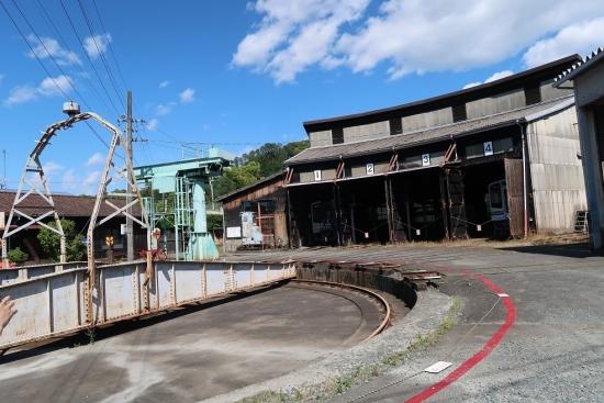 天竜二俣駅 第3村 扇形車庫と転車台