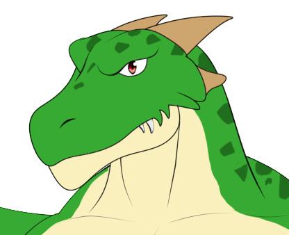 2000rtpドラゴン普通立ち絵ざっくり塗り顔