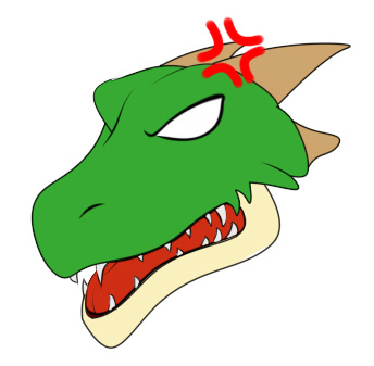 2000rtpドラゴン普通立ち絵怒りコミカル