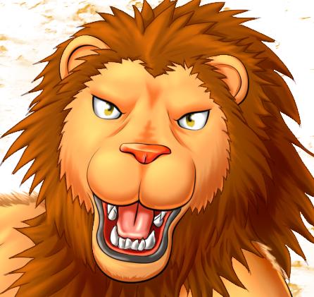 ライオン獣人とびかかり端光沢着け顔
