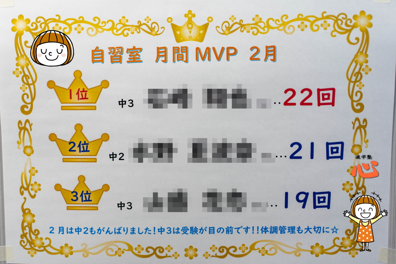 0301 月間MVP