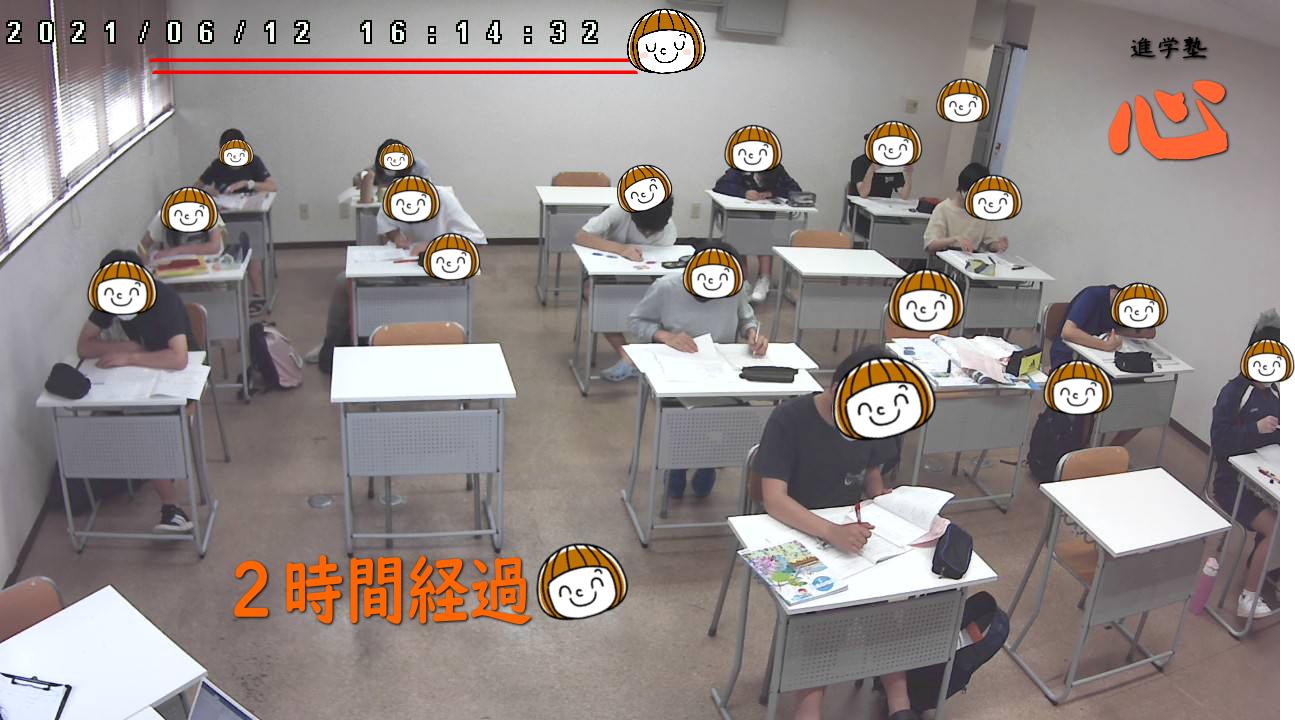 20210612自習室 ②時間経過