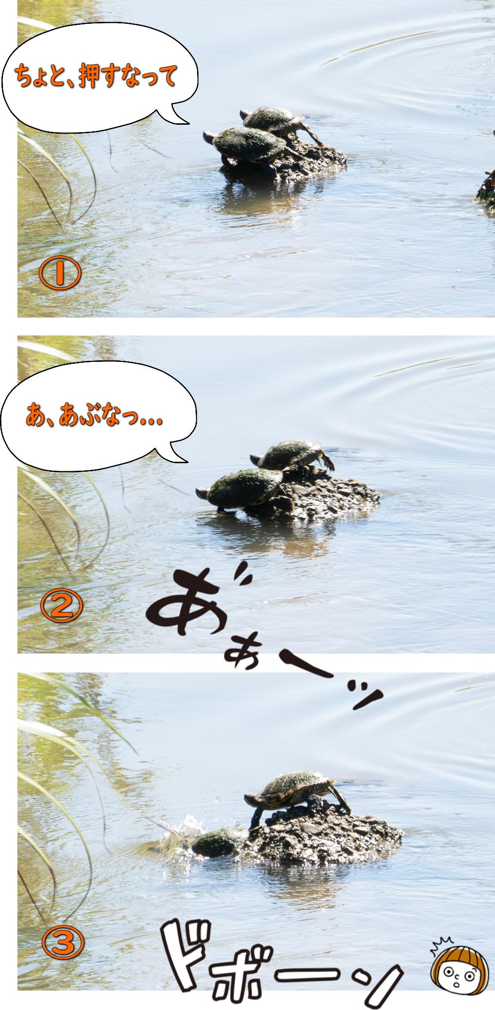 0910カメッラー様への礼拝 3コマ漫画風