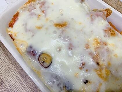 じゃがいものトマトソースチーズ焼き