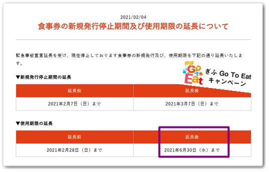 GOTOEat食事券延長