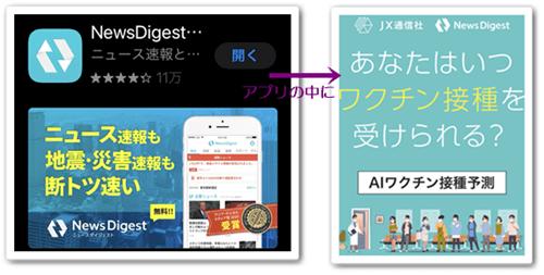ニュースダイジェストアプリ