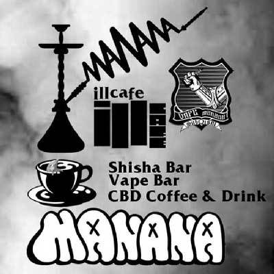 mananaのカフェスペース illcafeで、シーシャバー 始まりました