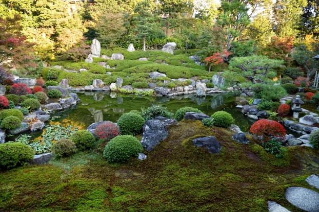 両足院庭園・中心部景観