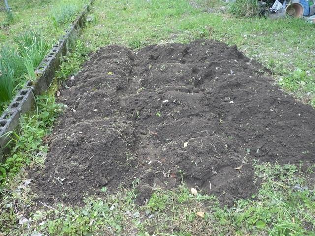 畑を耕した