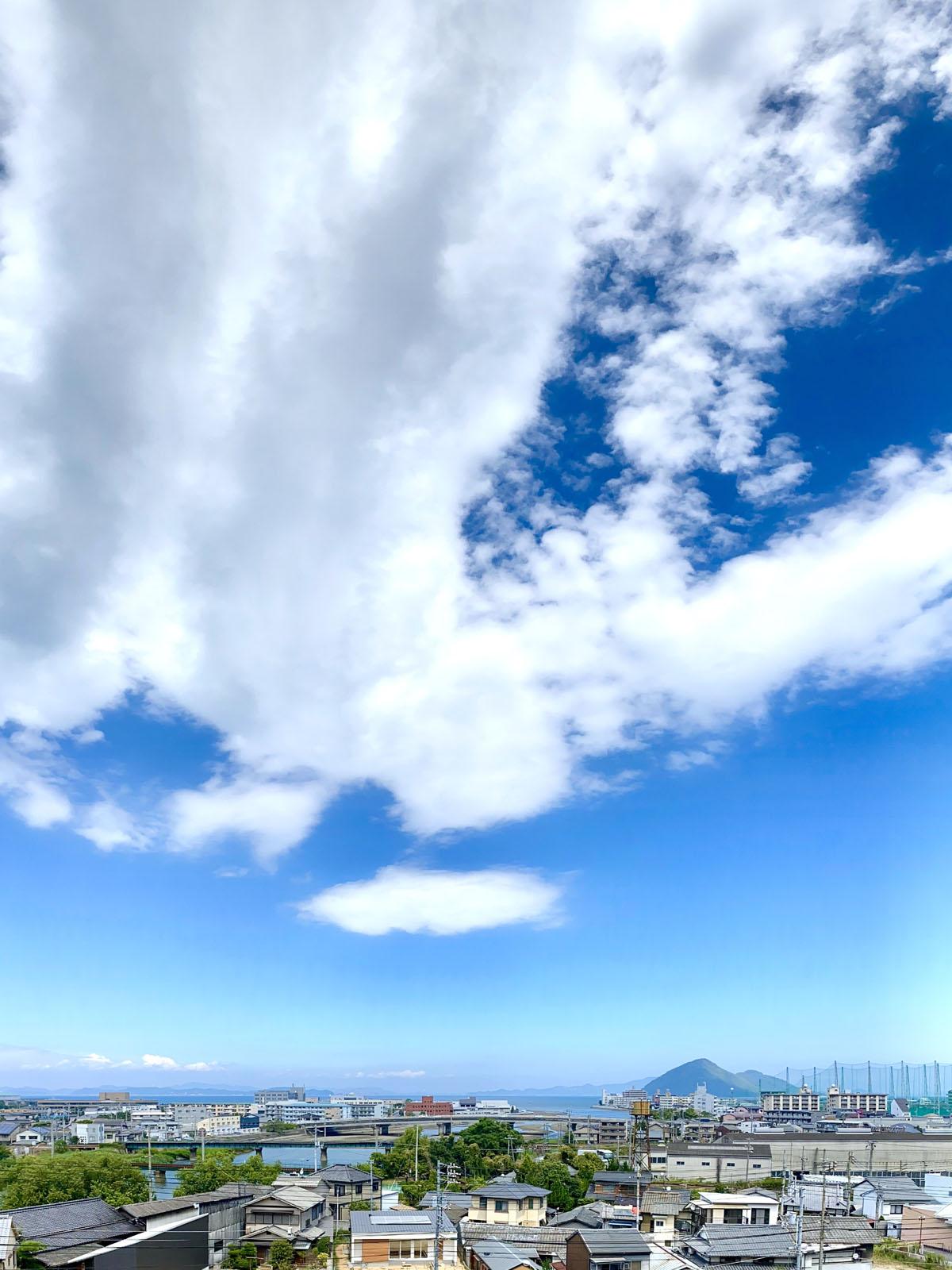 西宝町の高台からの眺め