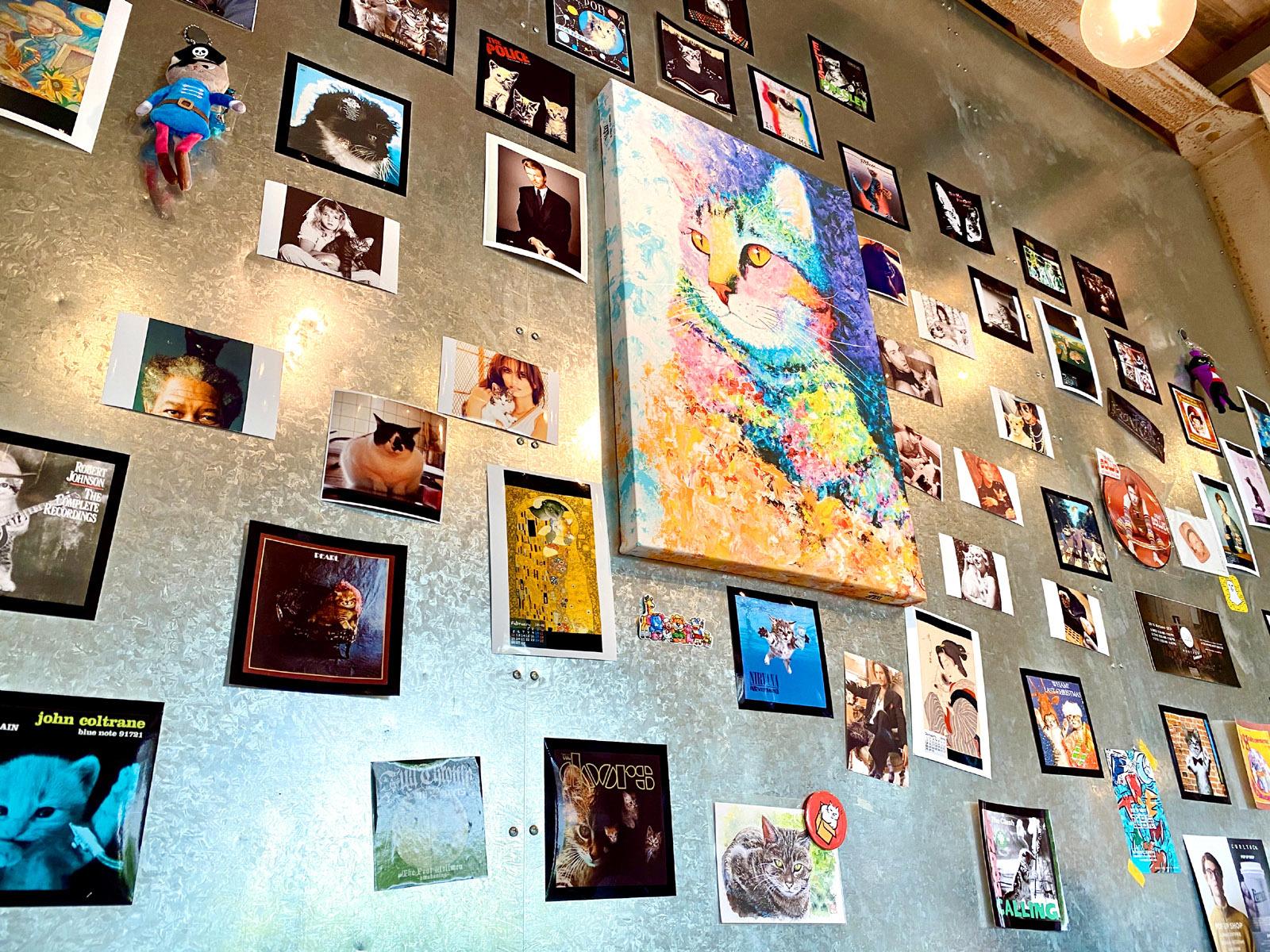 店内の壁面