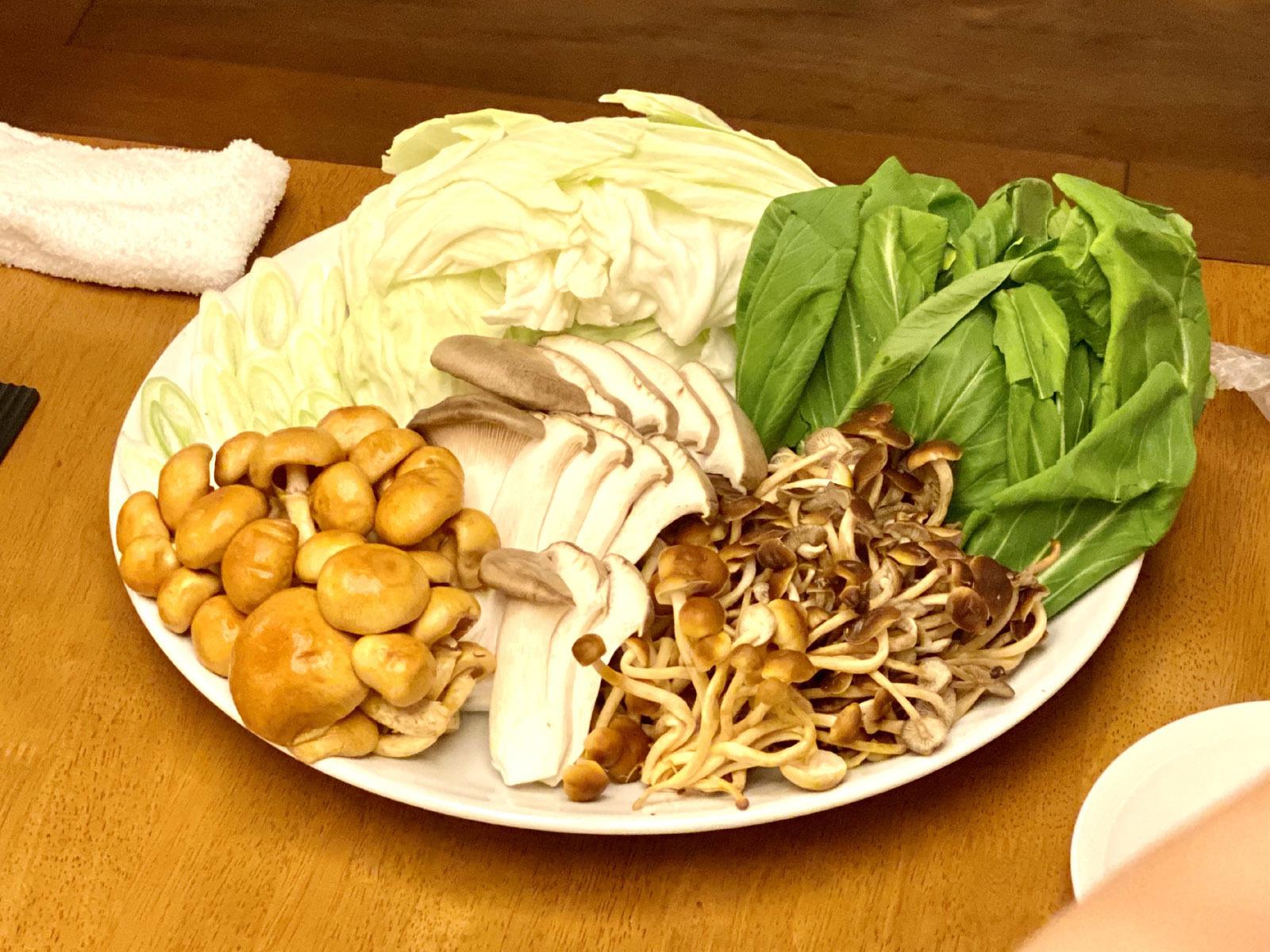 キノコや野菜