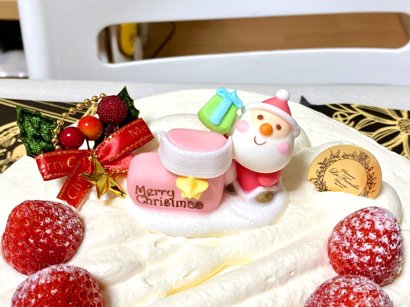 ラ・ファミーユ 苺のふんわりショートケーキ(サンタクロース)