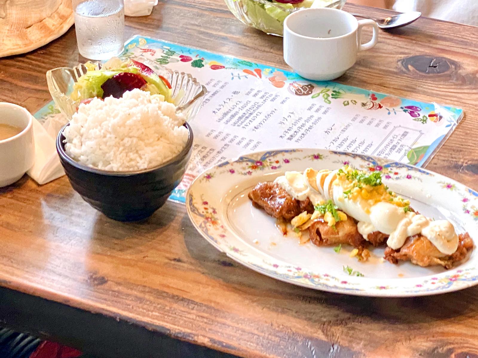 タルタル卵のチキン南蛮定食 990円