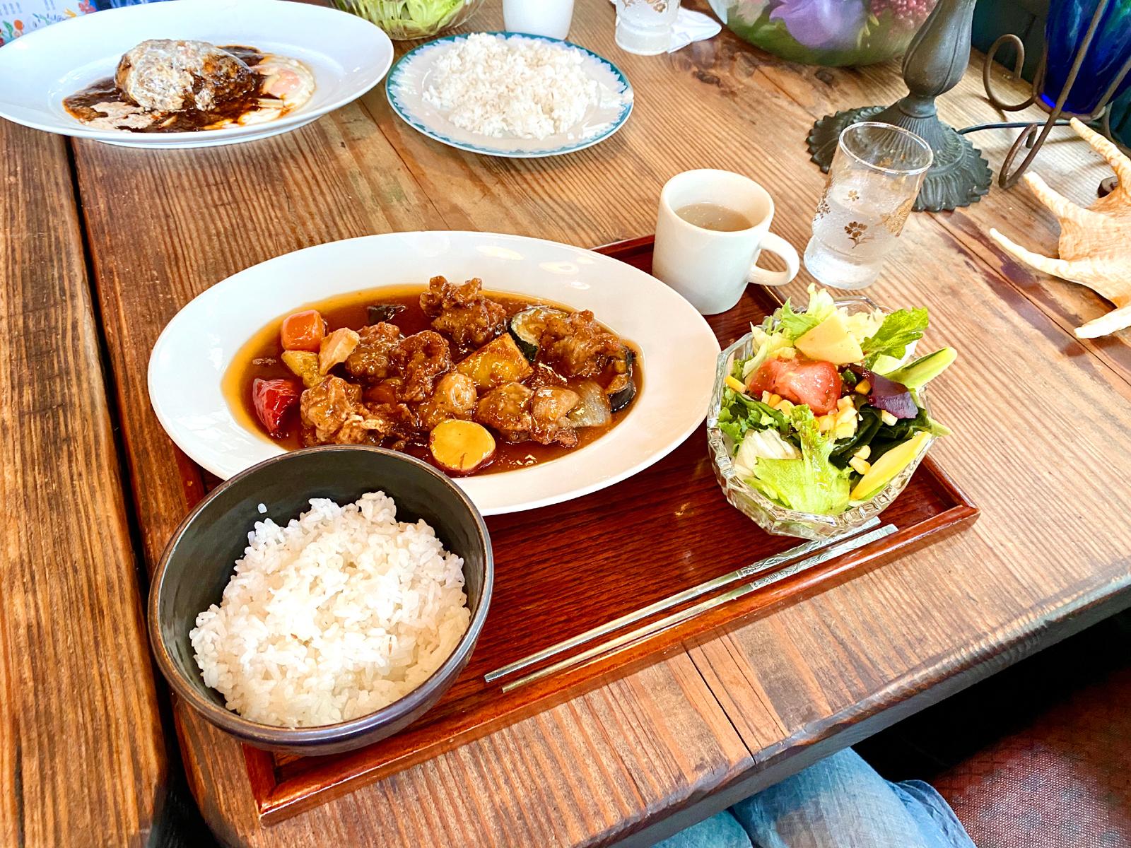 黒酢のスブタ定食 990円