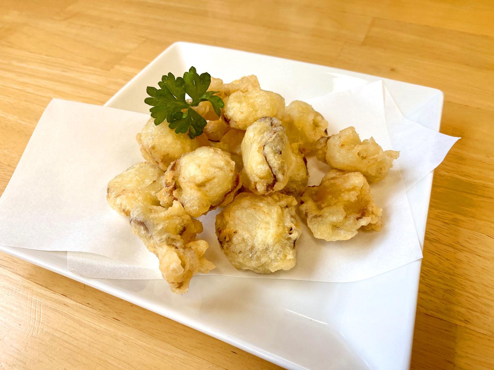 ヒオウギ貝の天ぷら