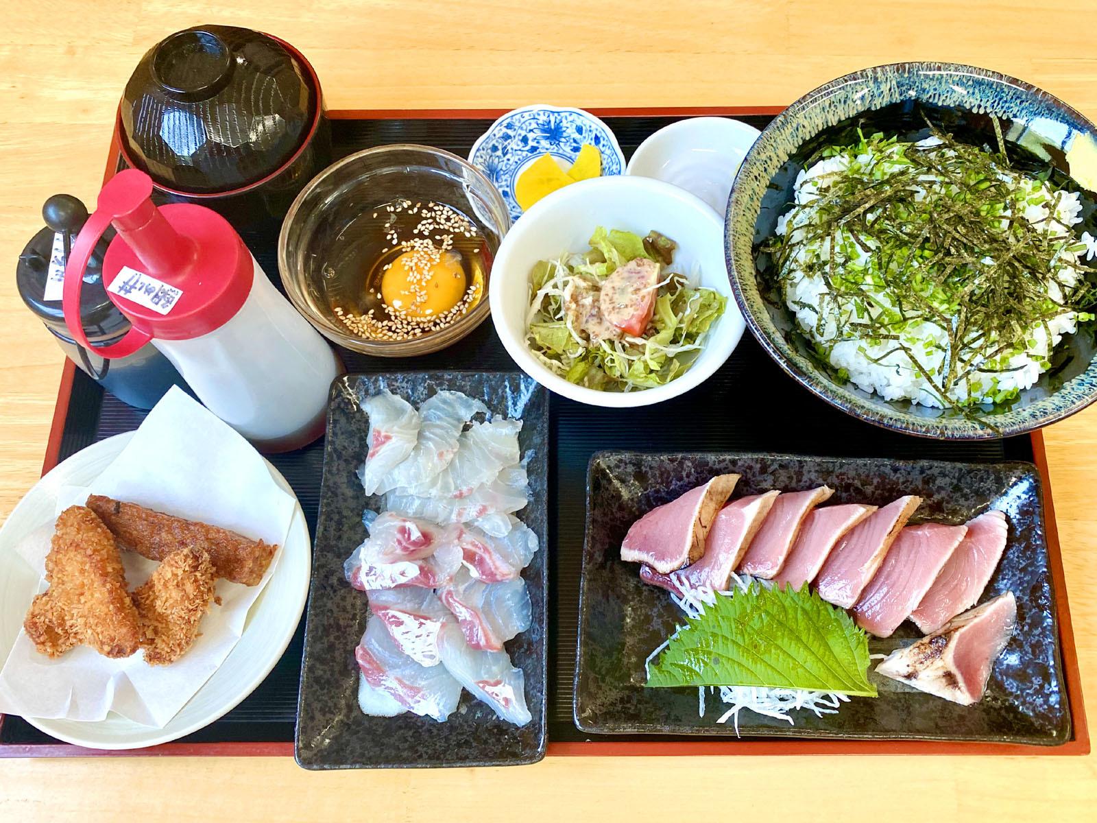 伊予の媛貴海の炙り定食(鯛めし丼Ver) 1700円