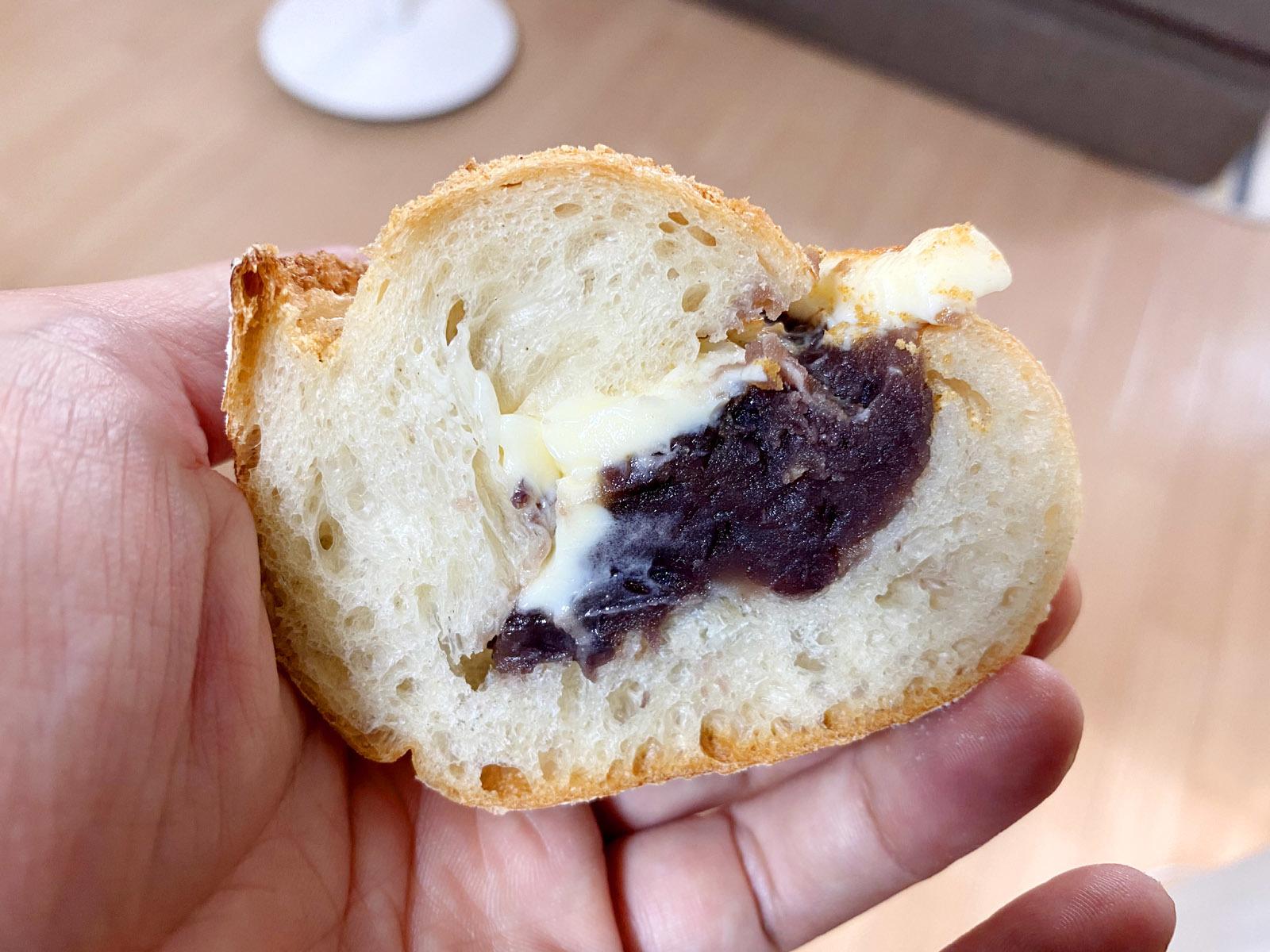 あんバターフランス 248円(断面)