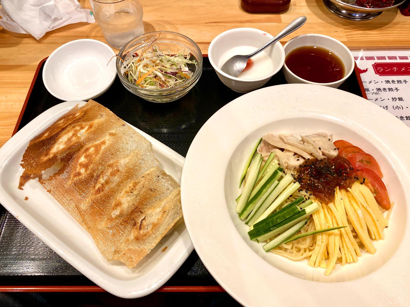冷麺+餃子 1000円