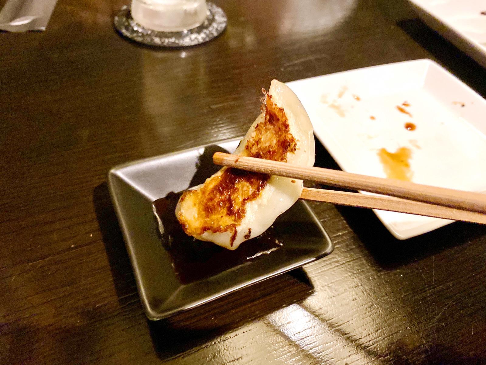 焼き餃子(大葉)5コ 390円(餃子リフト)