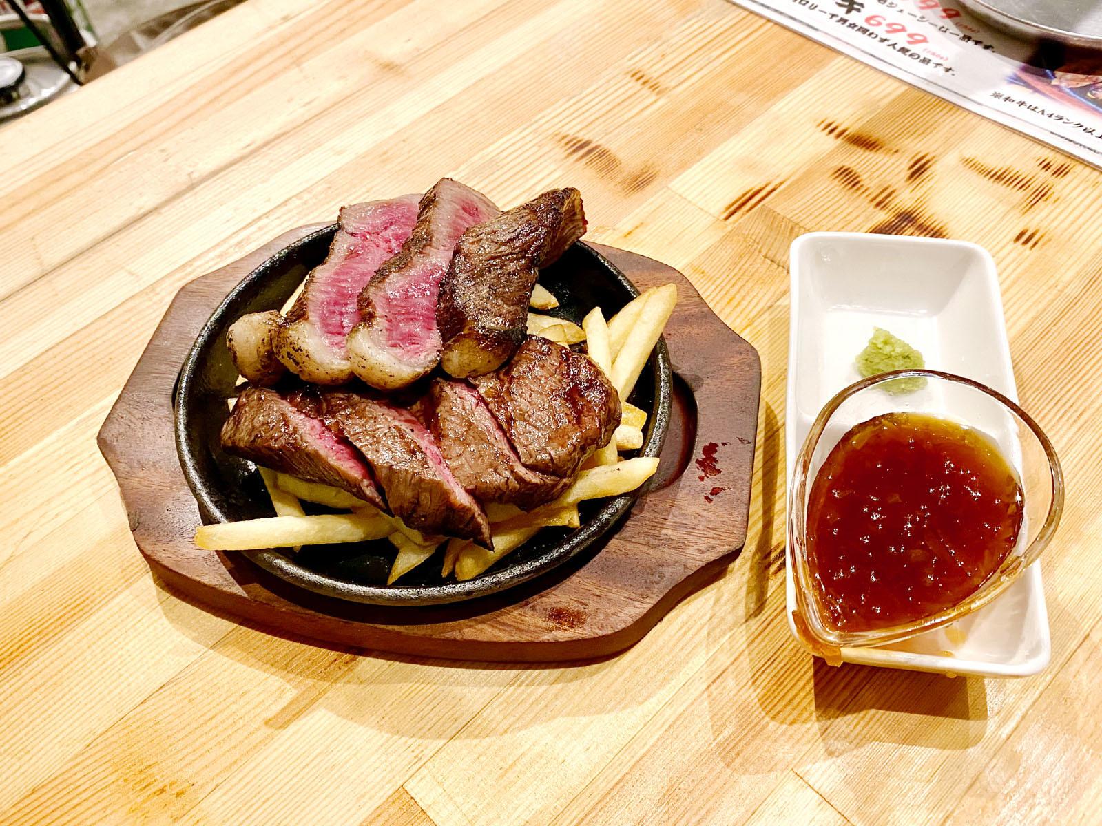 しんみょう精肉店 A4ランク以上!国産黒毛和牛ステーキ 999円(税抜き)