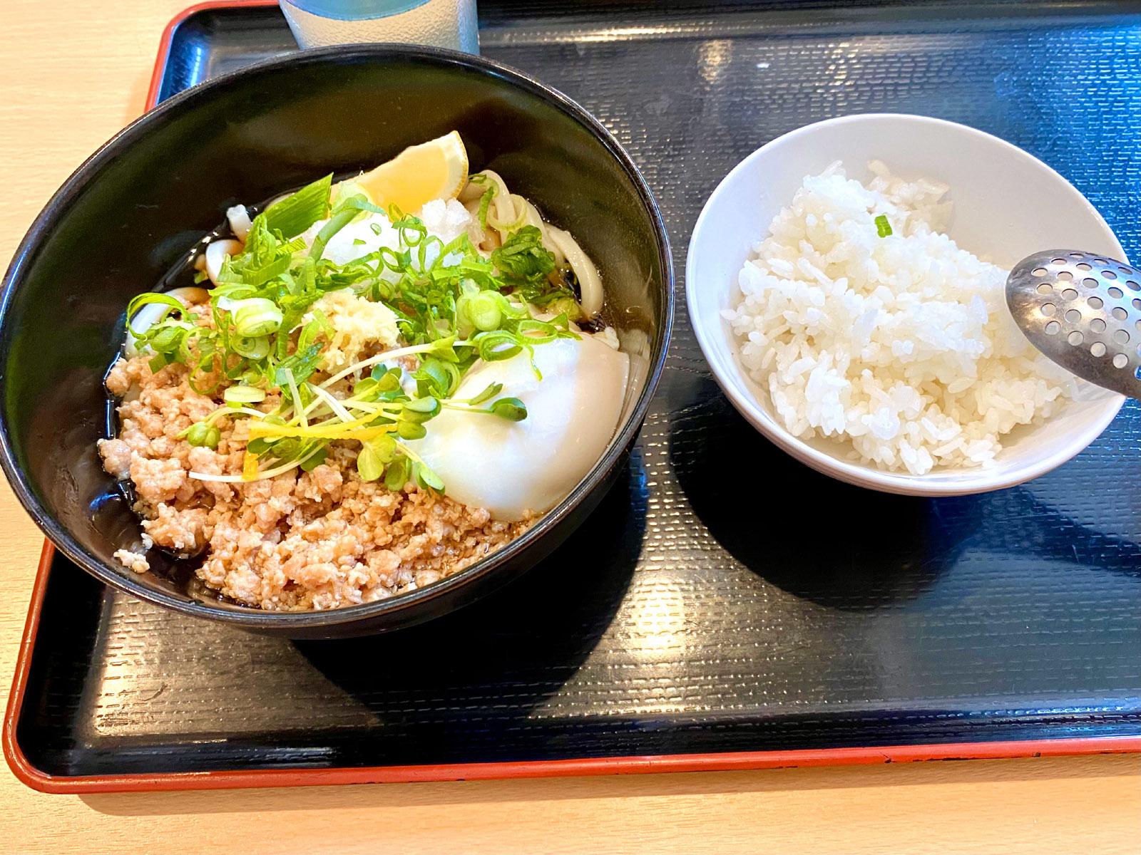 せんり 鶏の親子ぶっかけ(ミニライス付き)小温 490円