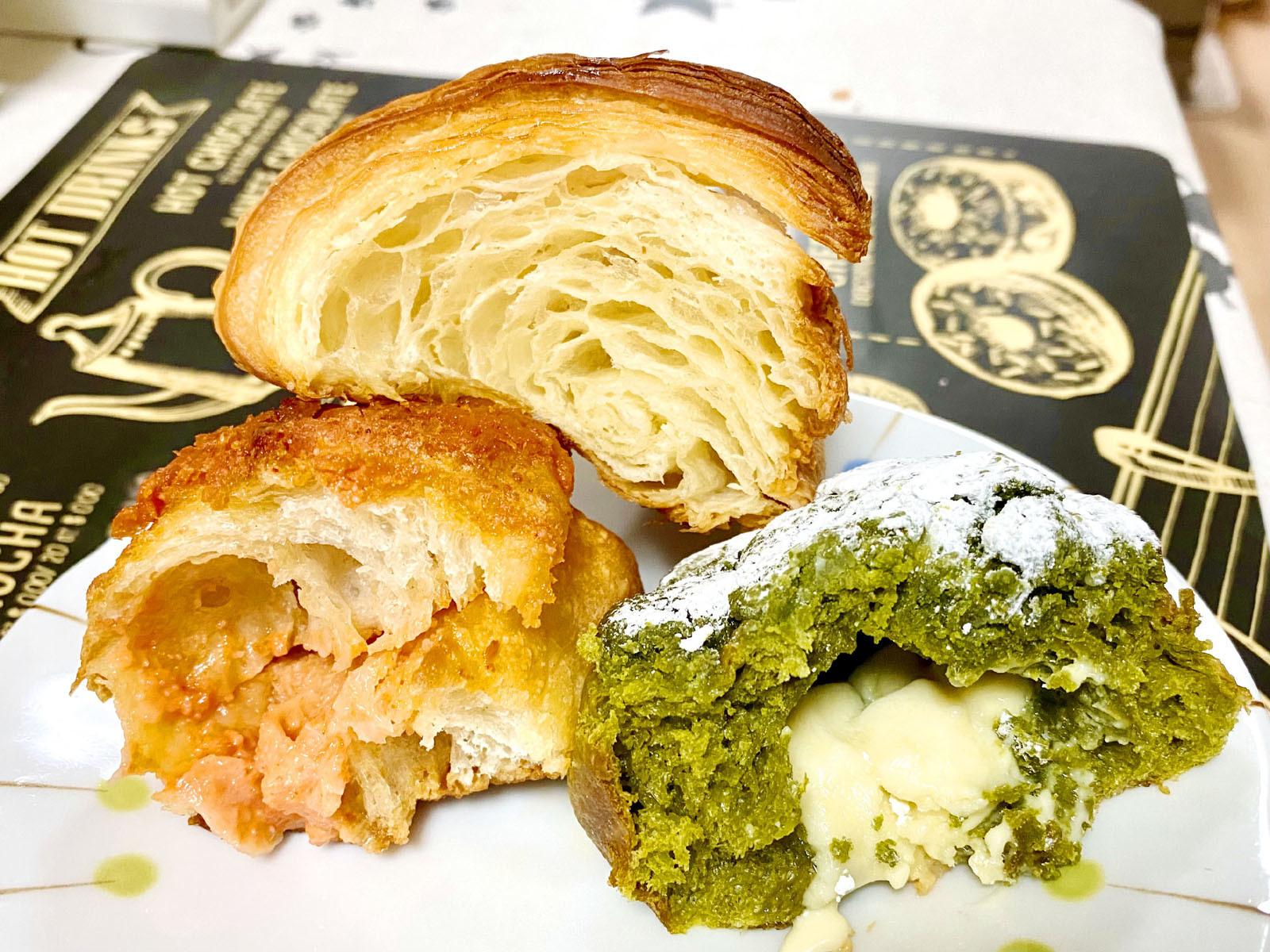 パンの断面 3種