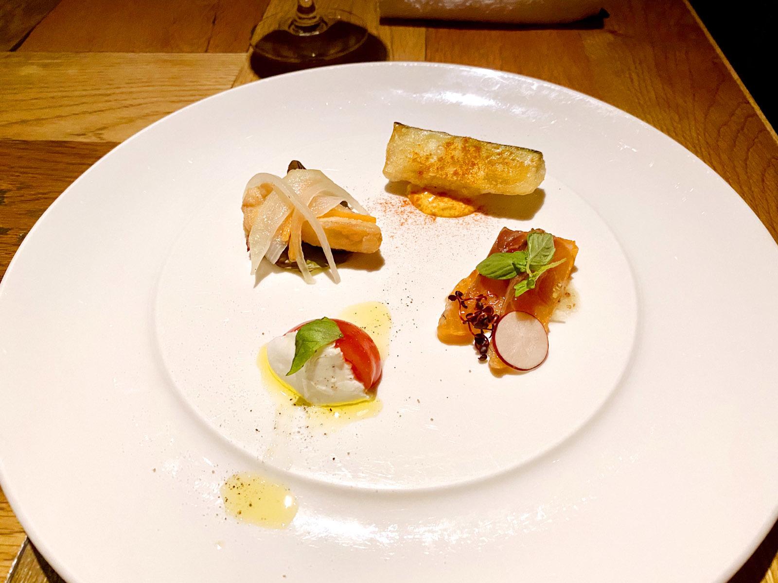 足袋のTOBICHI お魚と旬野菜の前菜4種盛り