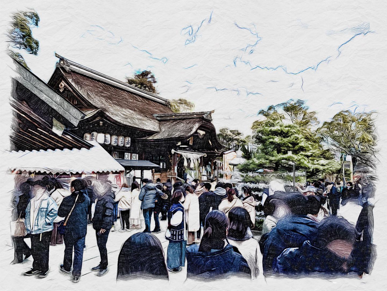 田村神社 社務所周辺