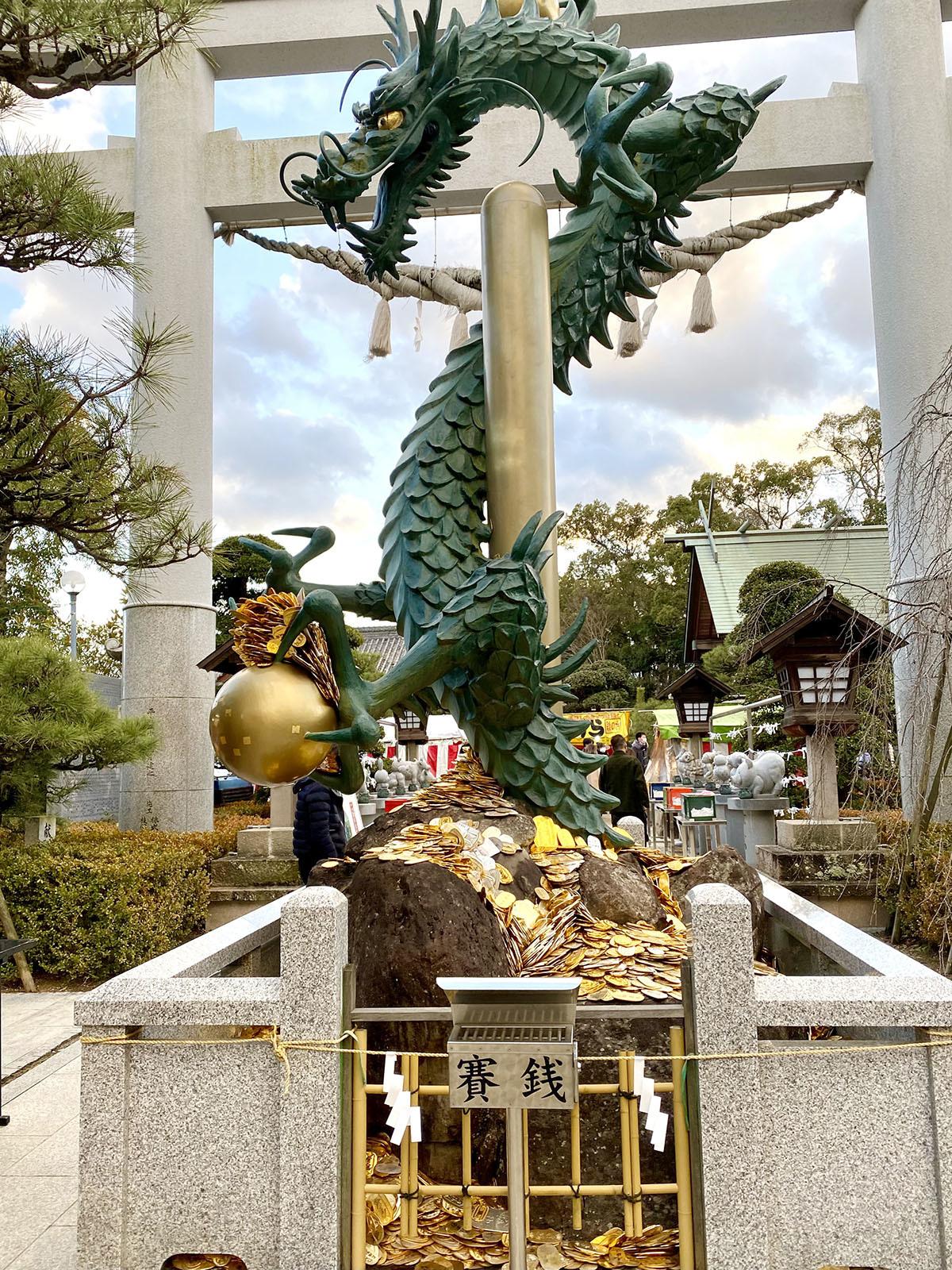 田村神社 龍