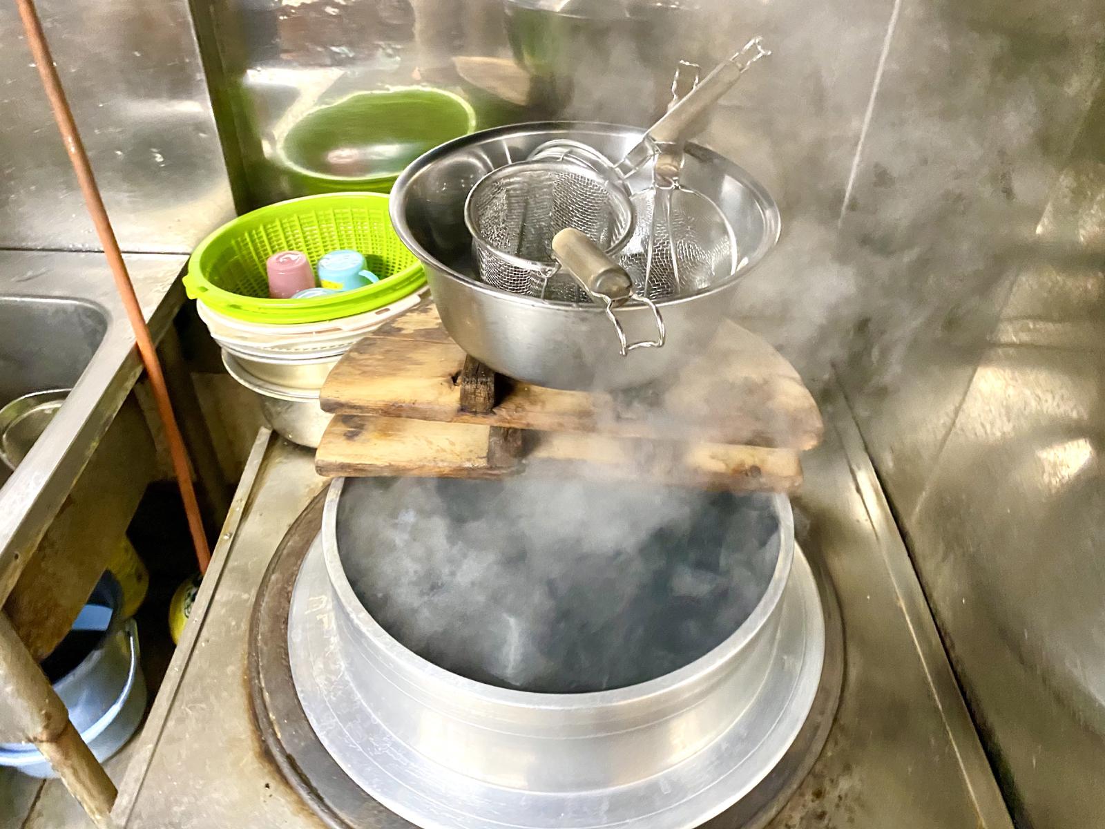 麺湯がく用の釜