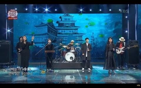 バ韓国の歌番組で日本の城が登場ww