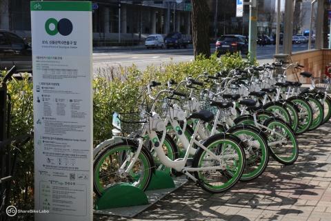 部品が全て日本製だったバ韓国の公共自転車