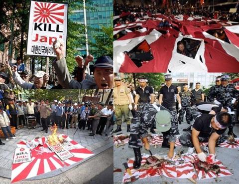 旭日旗を目の敵にするキチガイバ韓国塵