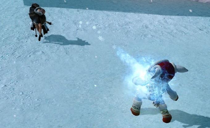 基本プレイ無料の自由系オンラインRPG、アーキエイジ、チーム対抗戦「スリル満点ぶるぶる雪合戦祭り」を開催したよ