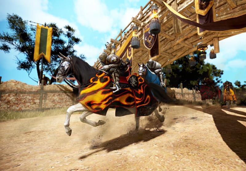 基本プレイ無料のノンタゲーティングアクションRPG、黒い砂漠、競馬レース「終末の月グランプリ」を開幕したよ