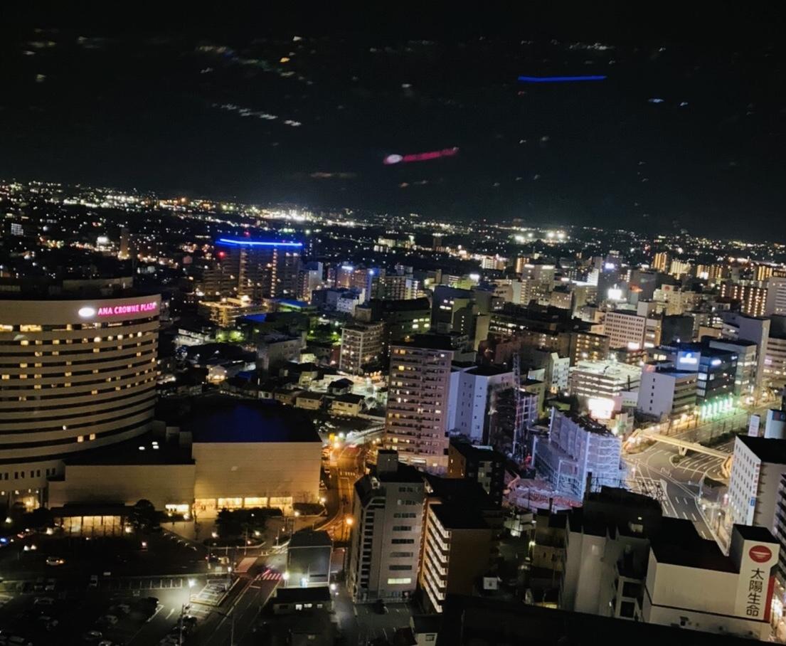 夜景・新潟市中心部