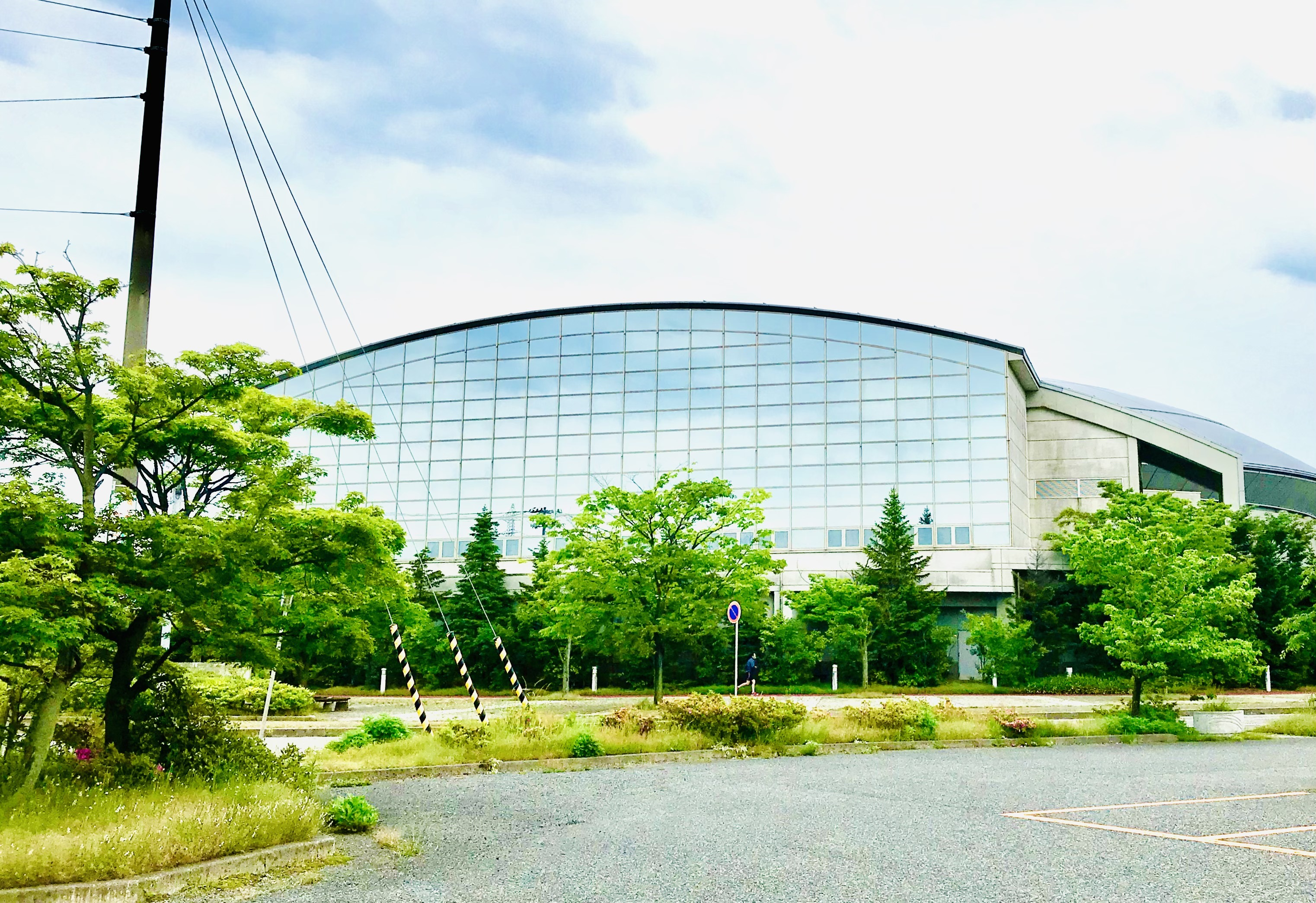 東総合スポーツセンターの一部分