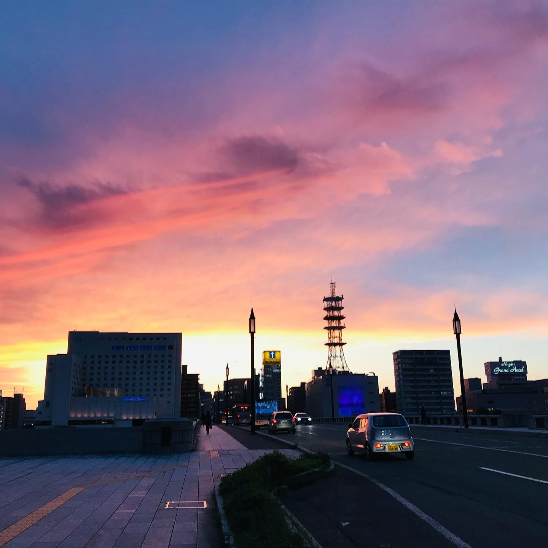 萬代橋の夕暮れ1