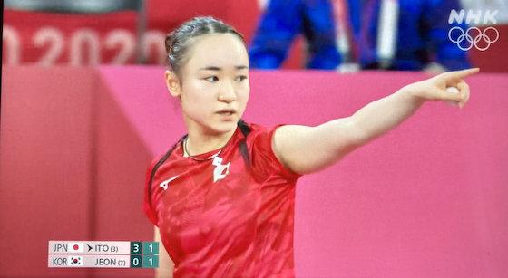 伊藤美誠 卓球 東京五輪 ライト