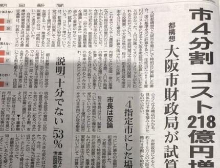 朝日新聞 毎日新聞 フェイクニュース 日本共産党 大阪都構想