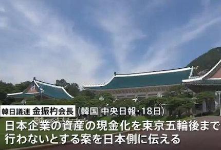 徴用工問題 募集工 現金化 東京五輪 手首切るブス