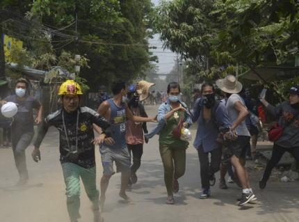 ミャンマー デモ 軍