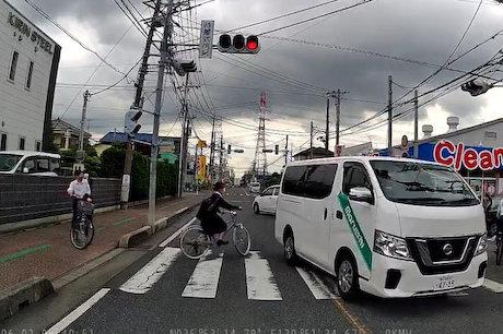 丸石自転車 キャラバン 信号無視 ドラレコ