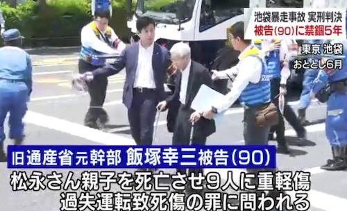 飯塚幸三 池袋暴走事故 禁錮 東京地方裁判所